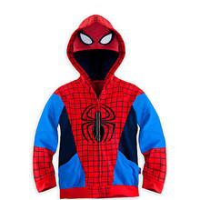 2018 otoño niños chaquetas para bebé niños abrigos niños Spiderman vengadores hierro Hombre con capucha chaqueta con capucha ropa de niños ropa de niño