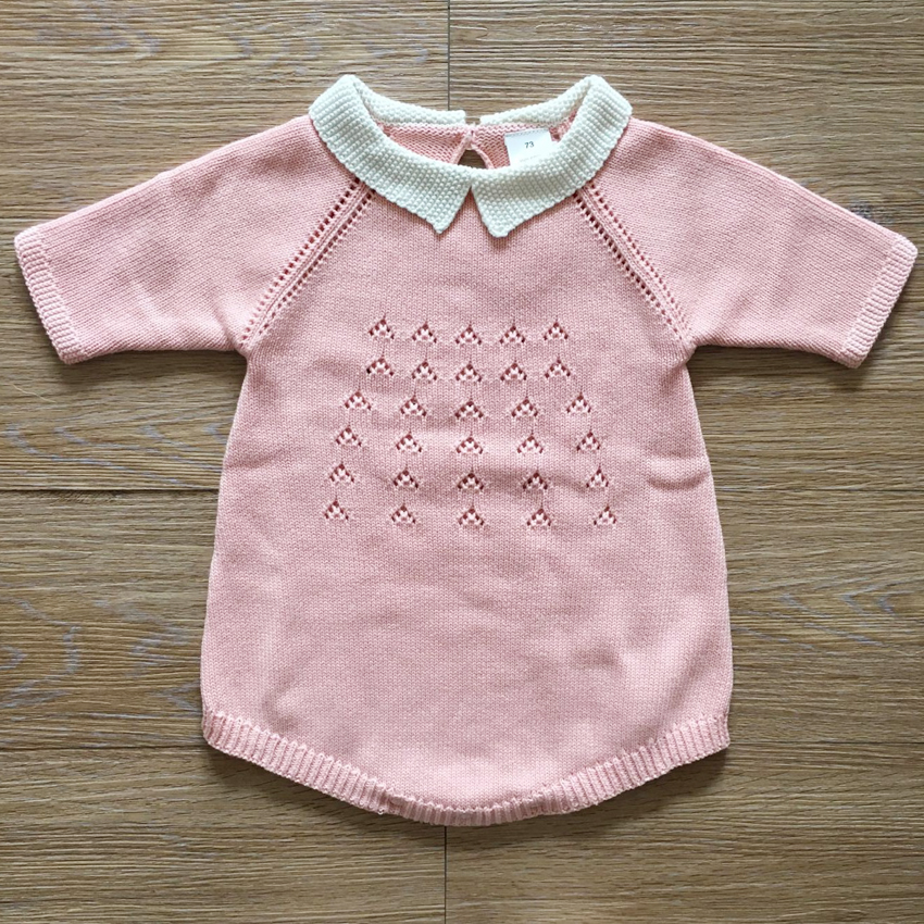 Baby Knitted Rompers Cute Sweet Style Newborn Baby Boy