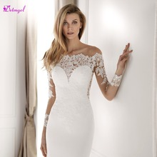 Detmgel Gorgeous Long Sleeve Mermaid Wedding Dresses