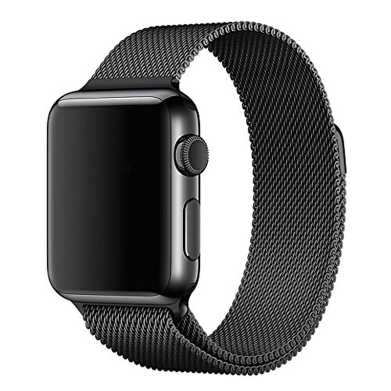 For Apple font b Watch b font Bands Correa 42mm Milanese Loop Strap Link Bracelet Stainless