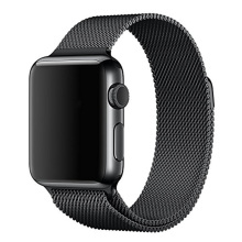 Para apple watch bandas correa 42mm milanesa de bucle de la correa brazalete de eslabones de acero inoxidable de apple iwatch venda de 42mm 38mm negro