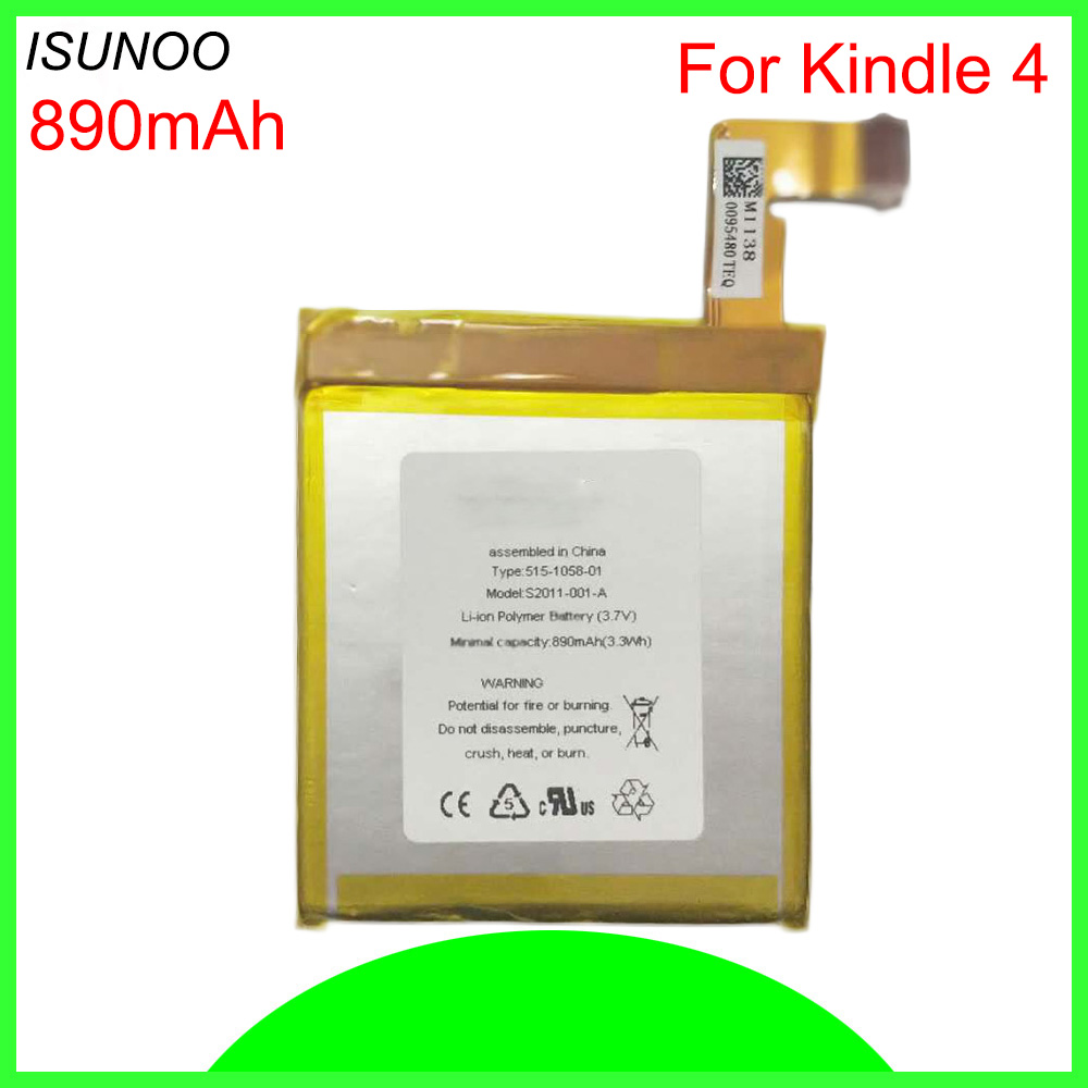 ISUNOO Mobile Battery For Amazon Kindle 4 5 6 <font><b>D01100</b></font> 515-1058-01 MC-265360 S2011-001-S image