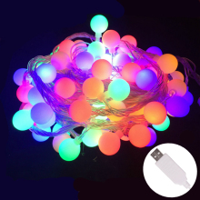 10M 60 LEDs USB 5V waterproof IP65 outdoor multicolor LED string lights Christmas Lights holiday wedding party decotation