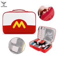 iBen Portable PU Shell Case Carrying Storage Bag For Nintend Switch Accessories Pokeball Water Resistent NS Console