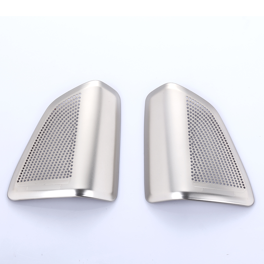 2pcs/set Stainless Steel  Audio Speaker Tweeters Cover Trim For BMW X5 F15 2014 2015 2016 2017 Car Styling Accessories 4pcs stainless steel side door body molding cover trim for bmw x5 f15 2014 2015 car accessories