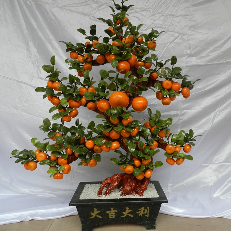 The company opened natural jade ornaments and leaf Deluxe Edition 108 orange tree Home Furnishing living ornaments jewelry jewel нивелир ada cube 2 360 home edition a00448