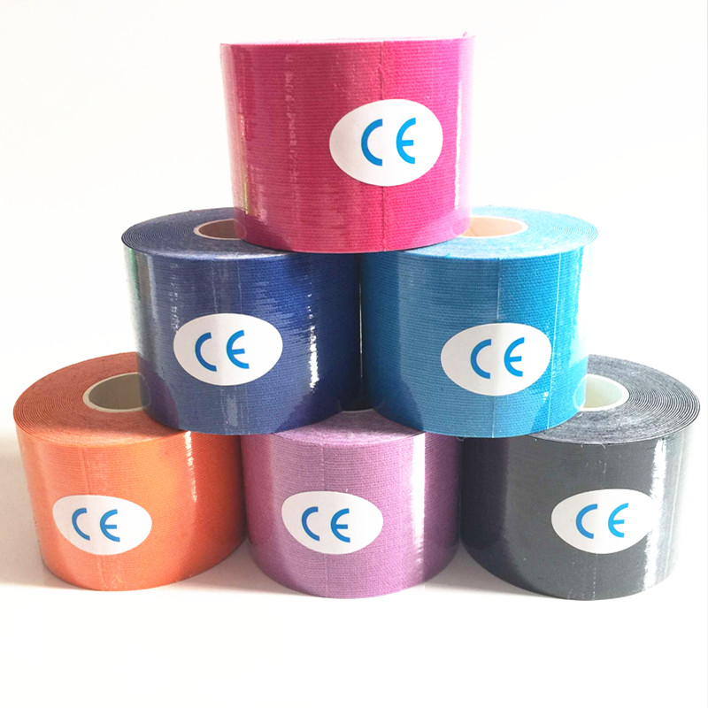 цена на 11colors 5cmX5m kinesiology kinesio roll cotton elastic adhesive muscle sports tape bandage physio strain injury support