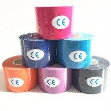 11 цветов 5 см Х 5 м кинезиологии kinesio ролл хлопок эластичный клей мышечные спорт лента бинты врач растяжение поддержка