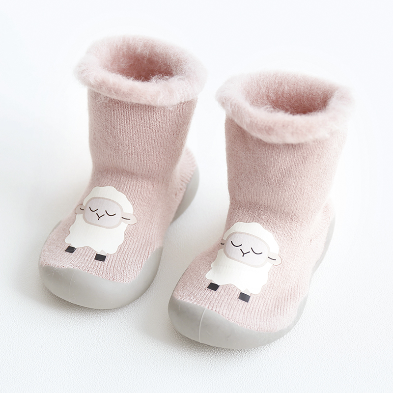 Winter Shoes Baby Warm Booties Newborn Girl Baby Shoes Toddler Girls Shoe First Step Bebe Knitted Slippers Walker Soft Shoes Boy