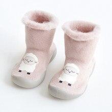 Sapatos de inverno para meninas recém-nascidas, calçados quentes para bebês meninas recém-nascidas, sapatos macios para primeiros passos menino