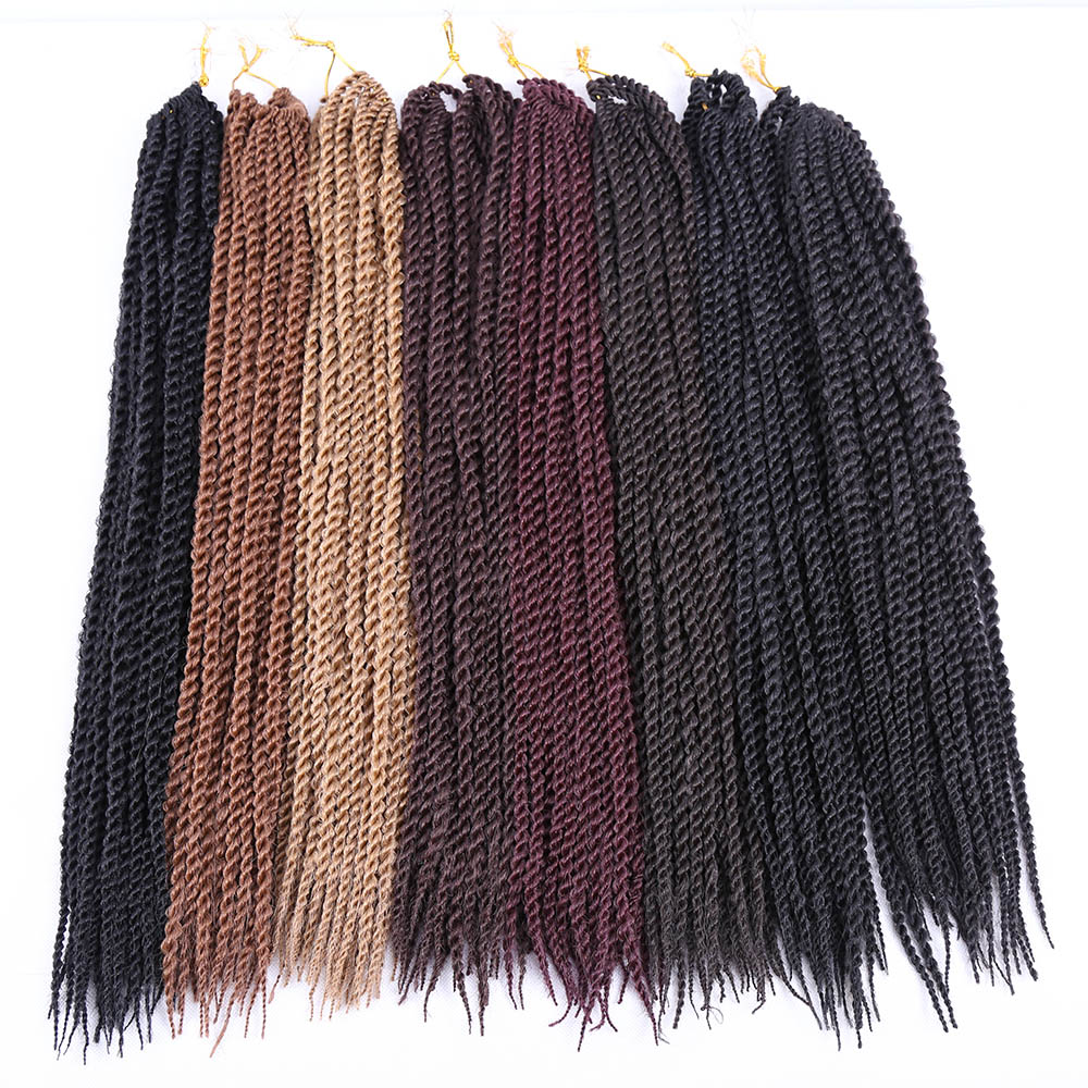 Amir Hair 18 22 Synthetic Havana Twist Braiding Hair with Long Black and Blonde Crochet hair