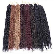 """Амир волос 18-22 """"синтетический HAVANA твист плетение волос с длинными черный и белый крючком волос Бесплатная подарок"""