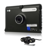 Udricare 7 inch GPS Navigation Android WiFi GPS DVR 16GB Quad core Dash Camera Video Recorder Rear View Dual Camera DVR