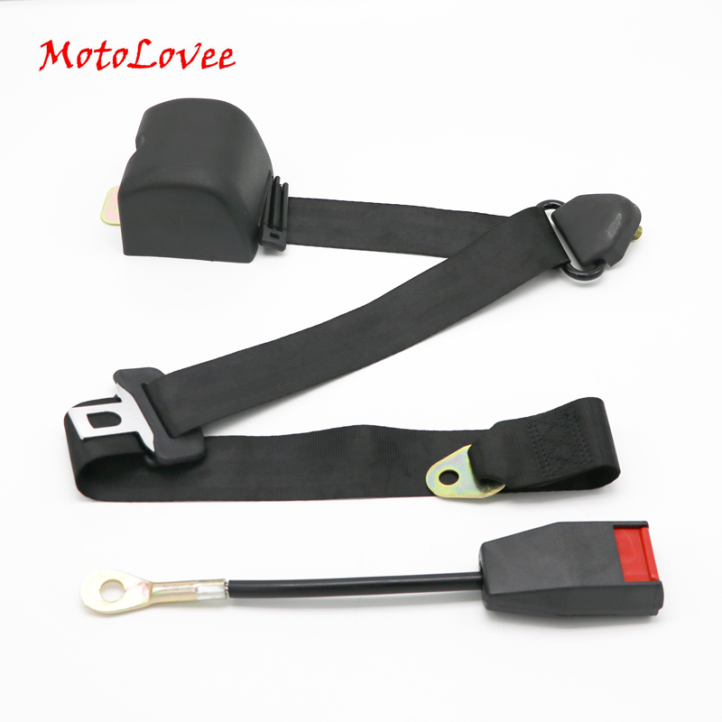 MotoLovee Universal Retractable Seatbelt Three Point Car Automatically Locking Seat Safety Belt FEB006
