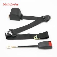 MotoLovee Universal Retractable Seatbelt Three Point Car Automatically Locking Seat Safety Belt FEB006