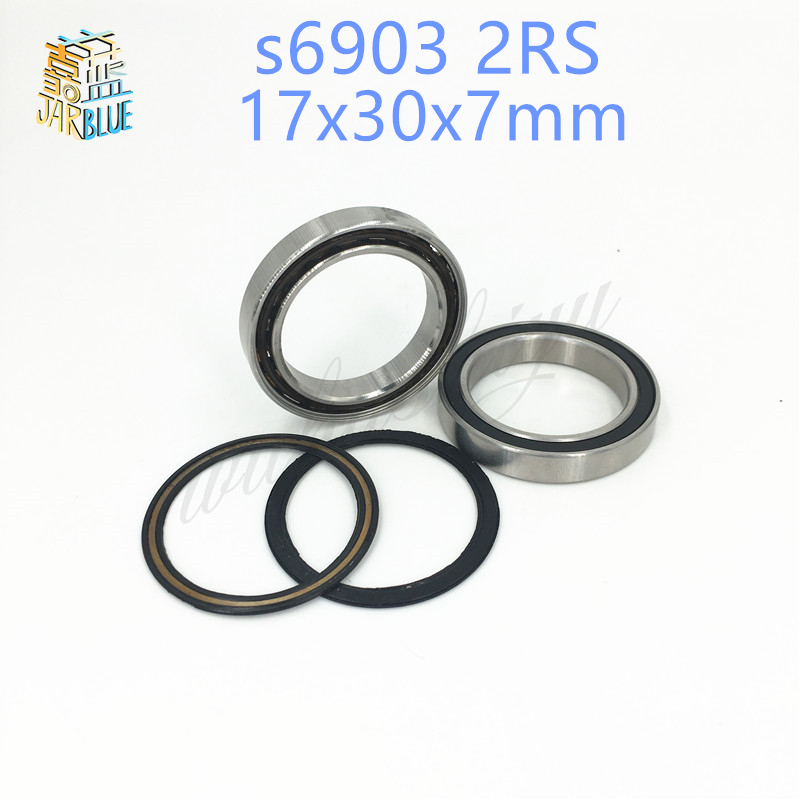 Free shipping 6903-2RS 6903 2RS 61903 17*30*7mm hybrid ceramic deep groove ball bearing 17x30x7mm for bicycle part 6903RS axk free shipping 1pcs 6901 2rs hybrid ceramic si3n4 ball 61901 ceramic bearing 12 24 6mm 6901 2rs