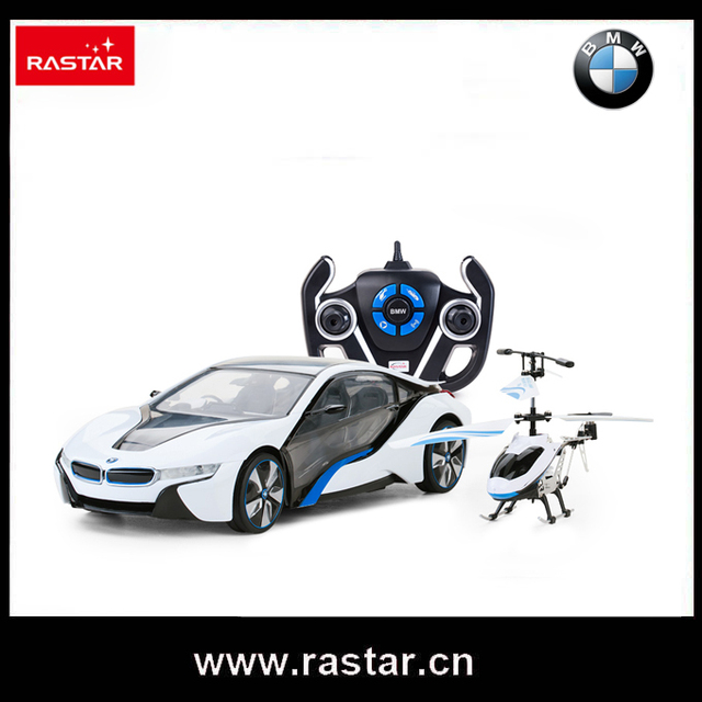 Rastar Licensed BMW I8 Electric Car For Kids With Remote Control Helicopter  Children Toys Remote Control