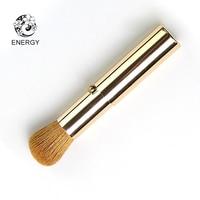 ENERGY Brand Retractable Portable Blush Powder Brush Makeup Brushes Make Up Brush Goat Hair Aluminum Handle