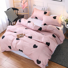 Classic bedding set 6 size grey blue flower bed linen 3/4pcs/set duvet cover Pastoral sheet AB side