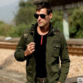 2017  fashion Military men jacket male multi pocket tooling coat  casual  jacket top with Detachable hoodies for male