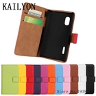 KAILYON Luxury Genuine Leather Wallet Case Cover For LG Optimus L5 E610 E612 E615 Leather Case Flip Stand Book Style Phone Cover