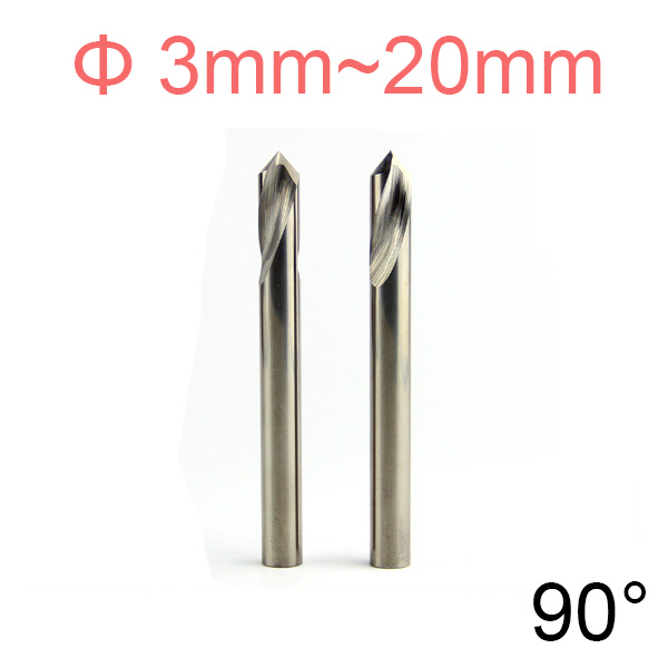 9mm 10mm 11mm 12mm 14mm 16mm 18mm 20mm 90 Degree Tungsten Steel Carbide Grain End Mill Chamfer Countersink Center Spot Drill Bit 45 degree premium hss dovetail cutter end mill milling high speed steel 12mm 16mm 18mm 20mm