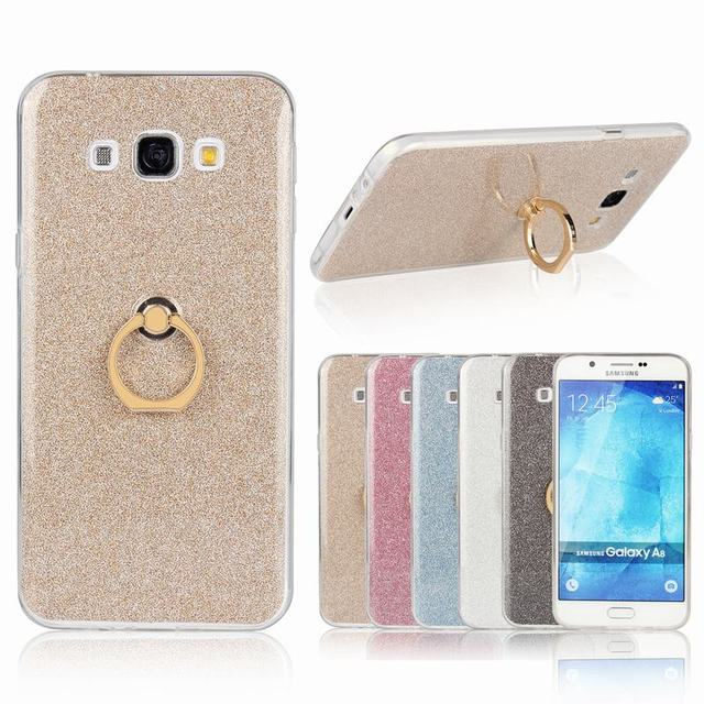 info for c450d 469a2 For Samsung Galaxy A8 2016 Case Silicone Soft Back Cover Samsung Galaxy A8  Case Finger Ring Glitter Powder Phone Case A810 A800-in Fitted Cases from  ...