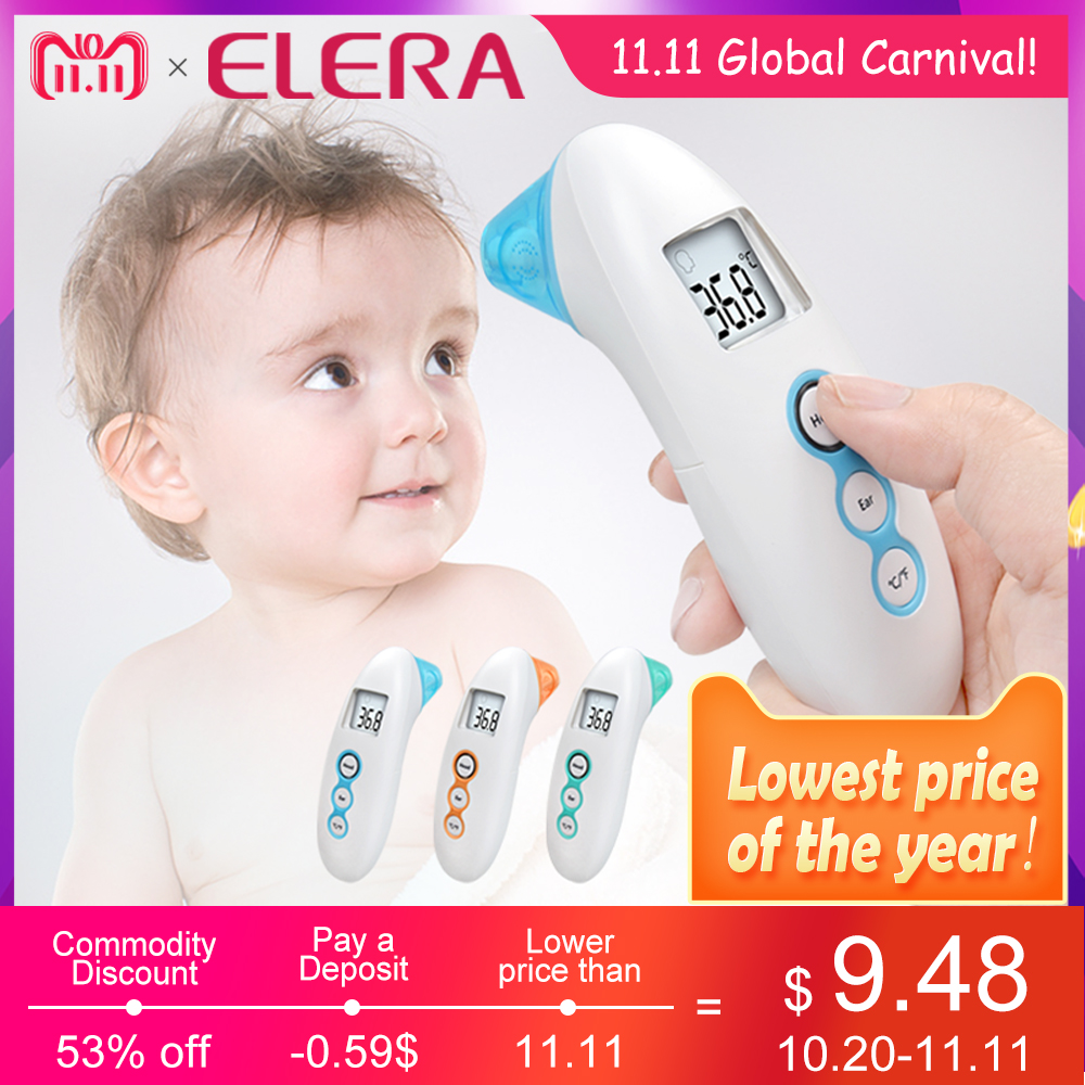 ELERA Infrared Digital Forehead and Ear Thermometer for Baby Kids and Adults Fever Alarm Measurement Non-Contact LCD Termometro цена 2017