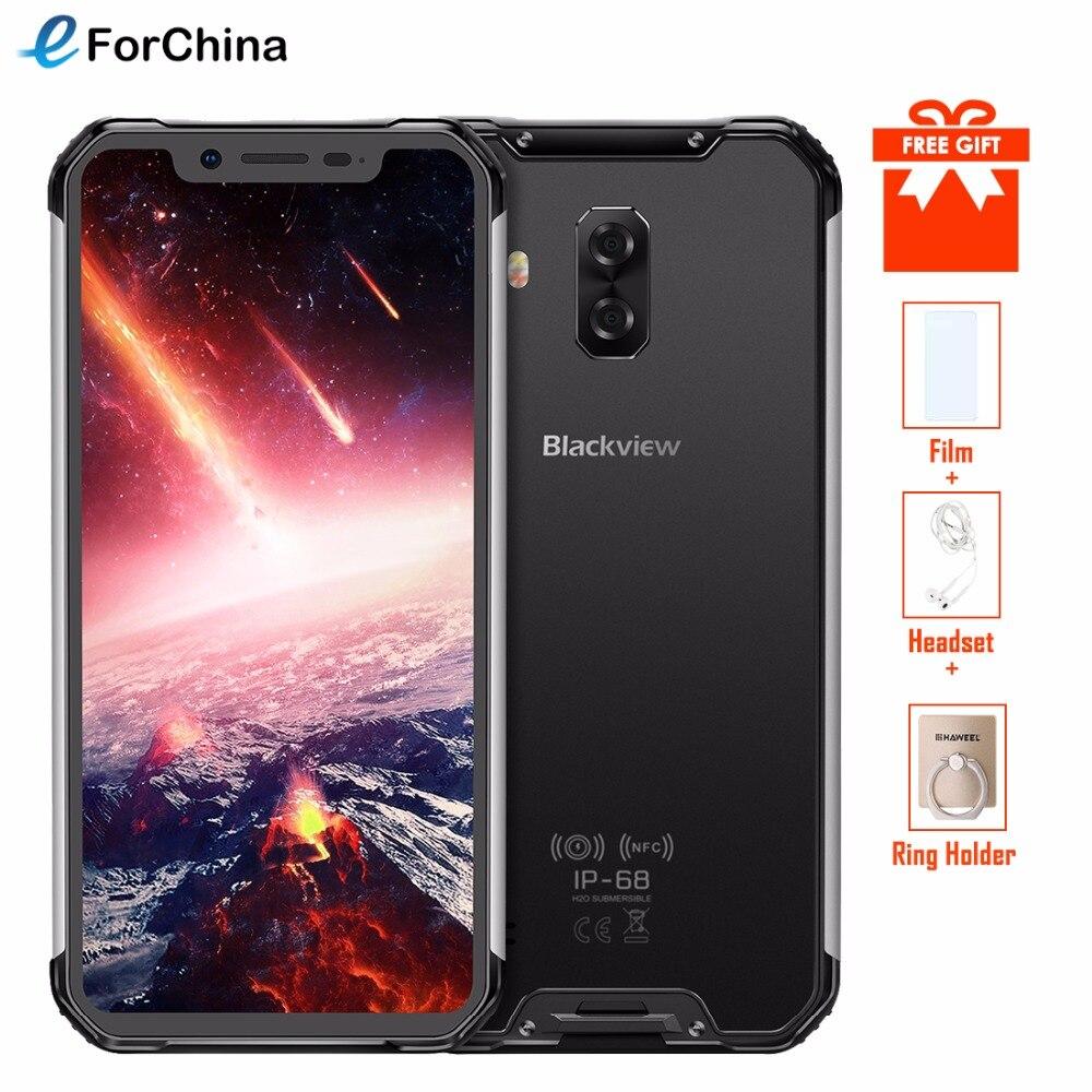 Blackview BV9600 Pro Helio P60 6 gb + 128 gb IP68 Étanche Mobile Téléphone 6.21 19:9 FHD AMOLED 5580 mah Android 8.1 Smartphone NFC
