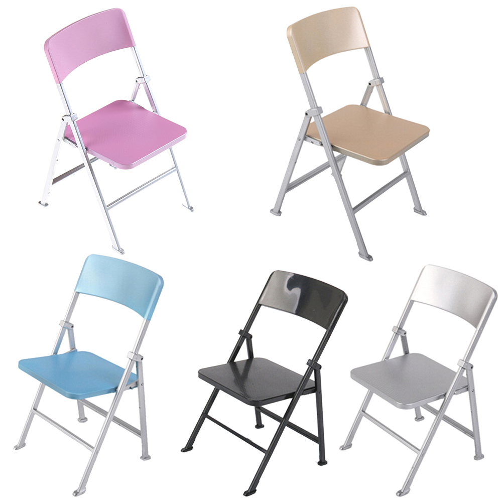 Cute Folding Chairs Us 3 65 16 Off Cute 1 6 Scale Min Dollhouse Furniture Folding Chair For Dolls Action Figures Multicolor Children Toys Accessories In Dolls