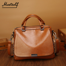MEETSELF 2018 New High Quality Women Handbags Rivet Short Handle Female Shoulder Bags Messenger Bag Tote Briefcase SVY-190