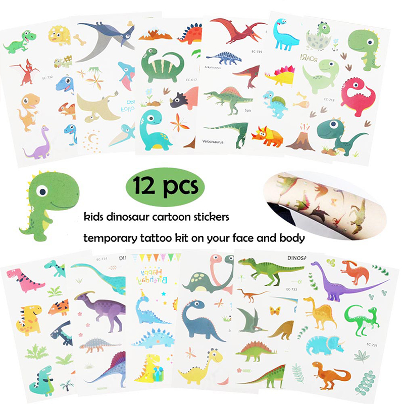Image 3 - Dinosaur Party Favor For Kids Birthday Party Bags Toys Rings Bracelets Tattoo Dinosaur Party Supplies Baby Shower Gifts Keychain-in Party Favors from Home & Garden