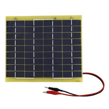 5W 18v solar cell panel for diy boat car 12V battery charger free shipping