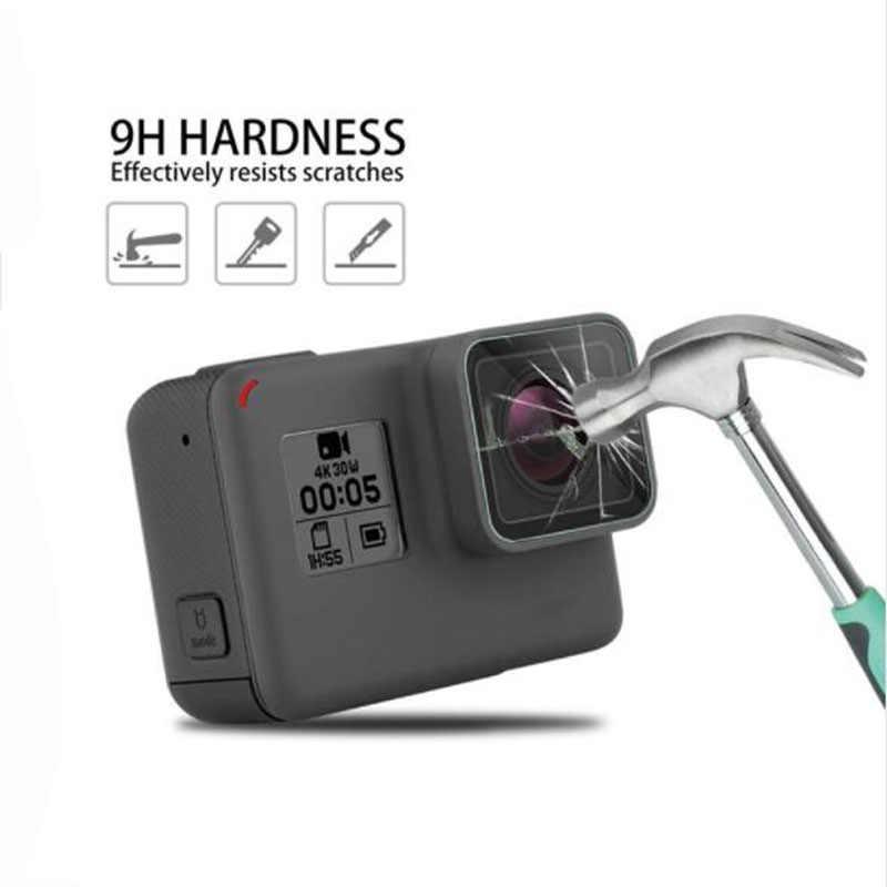 Закаленное Стекло защитный чехол для GoPro экшн-камеры Go pro Hero 5 6 7 Hero5 Hero6 Hero7 черный Камера Защитная пленка для телефона, защитная пленка