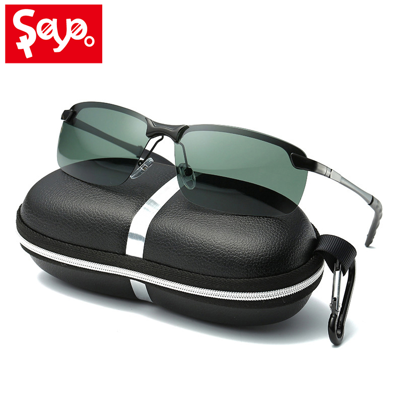 SAYLAYO New Men's Polarized Sunglasses for Sports,Outdoor Driving Sun glasses Men,Metal Frame Eyewear gafas de sol hombre