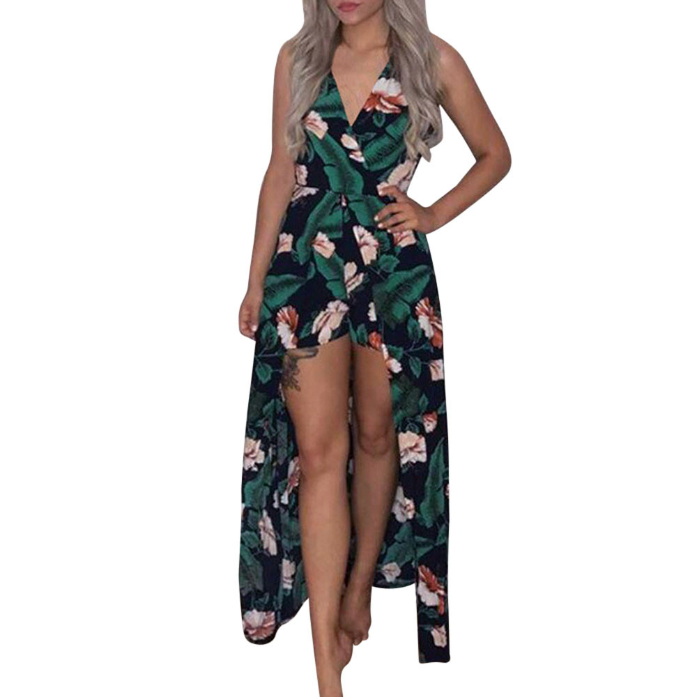 FREE OSTRICH Fashion women's bohemian strapless daily wild trend comfortable print children's   jumpsuit   summer beach   jumpsuit