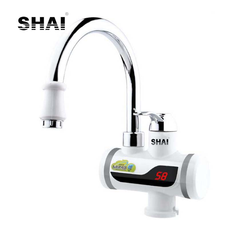 SHAI Tankless Faucet Instantaneous Water Heater Electric Kitchen Faucets Water Heater Tap Instant Hot&Cold Water Faucet Heater