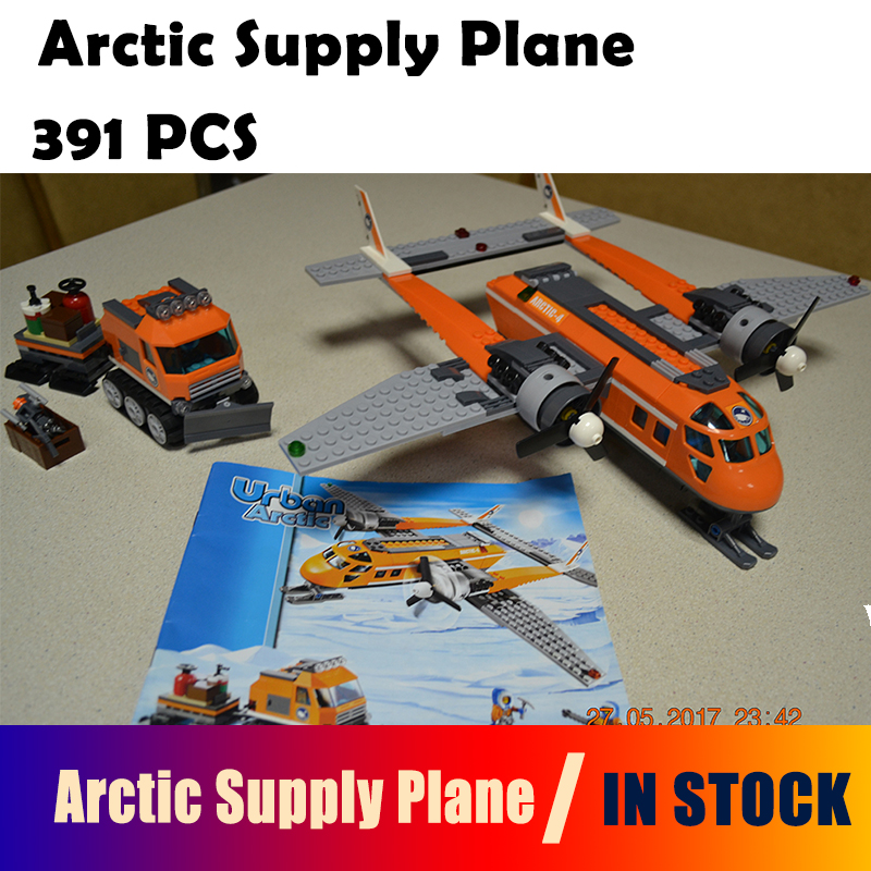 10441 Arctic Supply Plane Model building kits compatible with lego city 60064 3D blocks Educational toys hobbies for children
