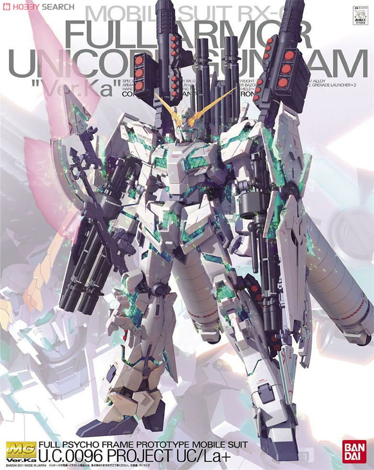 Bandai Gundam MG 1 100 Full Armor Unicorn Ver Ka Mobile Suit Assemble Model Kits Action