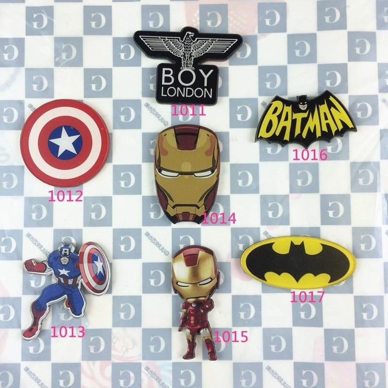 JL DC Superman Batman Spiderman Captain Ironman Captain America Pin Bag Hat Cap