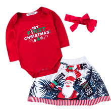 Newborn Baby Girl Clothes Baby Girls Clothing Set Fancy Christmas Bebe Baby Clothes Set Green Dress New Born Baby Clothing newborn baby girls christmas costume tutu dress my first christmas baby clothes set headband xmas socks new born baby clothing
