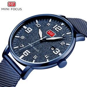 MINIFOCUS Simple Watch Men's Watch Top Brand Luxury Watches Man Thin Casual Fashion Date Display Clock Men Quartz Wristwatches
