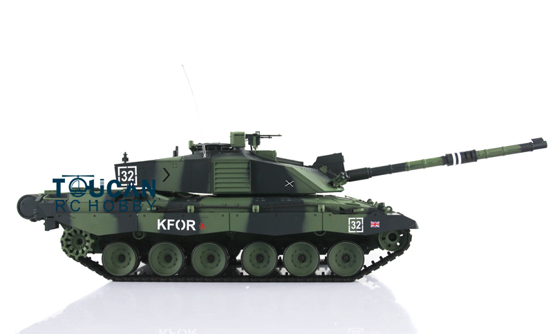 2.4Ghz Henglong 1/16 Sclae Camo Green British Challenger II Plastic RTR RC Tank Model 3908 блузка t tahari блузка