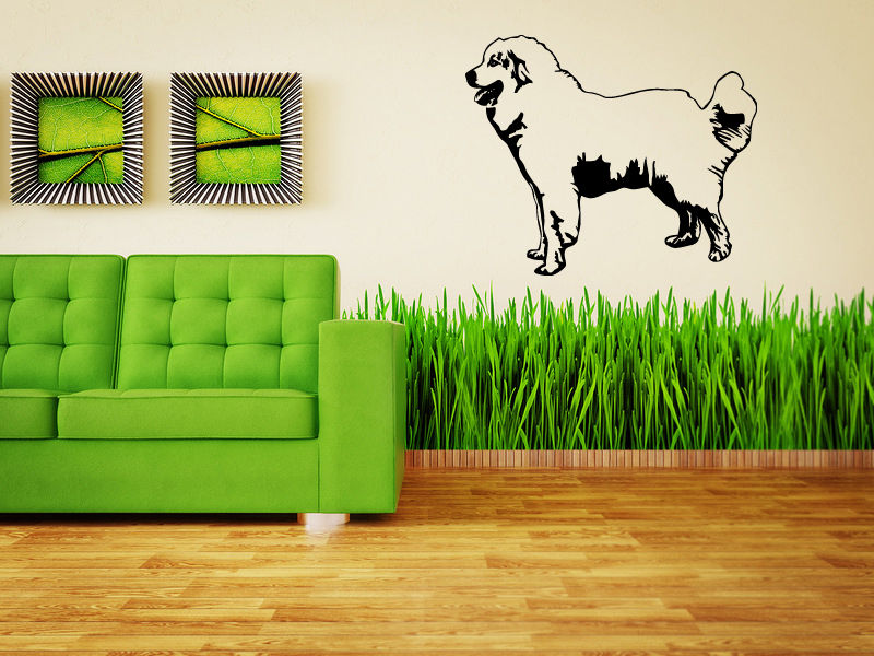 Great Pyrenees Dog Puppy Breed Pet Animal Family Wall Sticker Decal Mural image