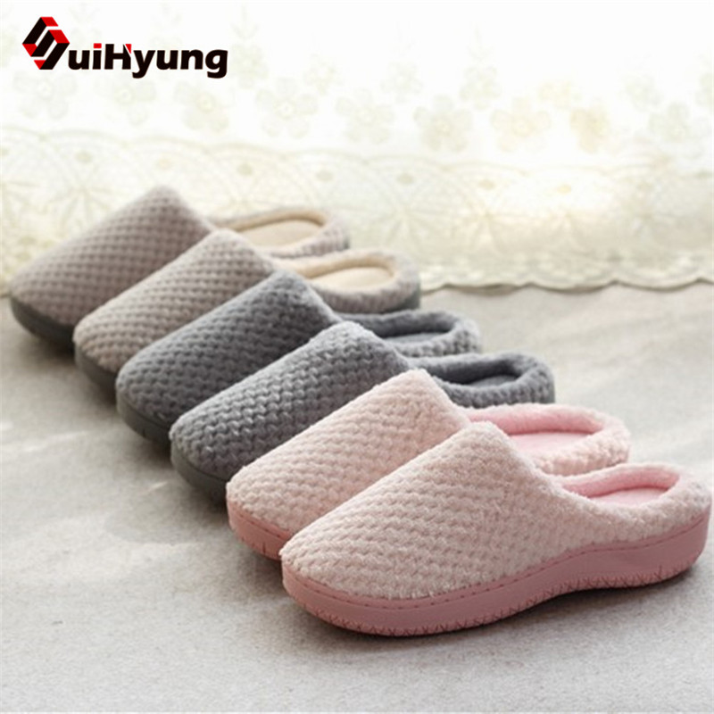 Suihyung New Autumn Winter Indoor Shoes Woman Warm Home Slippers Non Slip Bedroom Floor Flat Shoes Casual Slip On Cotton Slipper xiaokaixin fashion ladies home shoes woman winter animal style indoor warm cotton house slippers pregnant women non slip slipper