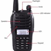 מכשיר הקשר 100% מקורי Baofeng UV-B6 מכשיר הקשר Communicator Dual Band VHF UHF Ham Radio כף יד HF משדר 2 Way מידלנד (2)