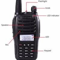 dual band vhf uhf 100% מקורי Baofeng UV-B6 מכשיר הקשר Communicator Dual Band VHF UHF Ham Radio כף יד HF משדר 2 Way מידלנד (2)
