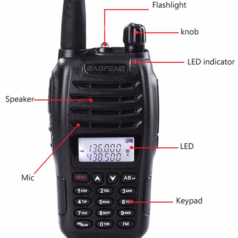 Image 2 - Baofeng UV B6 Walkie Talkie Communicator Dual Band VHF UHF B6 Ham Radio Handheld HF Transceiver 2 Way Radio Midland B5 Upgraded-in Walkie Talkie from Cellphones & Telecommunications