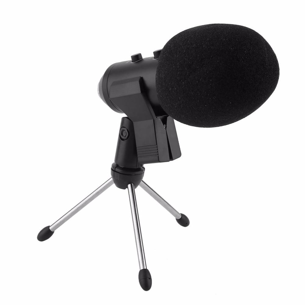 5 teile/satz Kondensator Sound Aufnahme Mic Sprechen Speech Mikrofon Unabhängige Audio Karte Freies Mikrofon Mit Stativ MK-F100TL