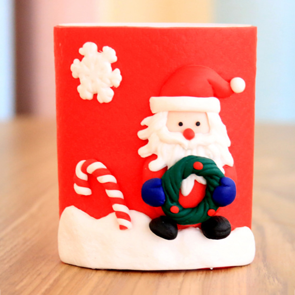 Pen Holders Professional Sale Top Christmas Ornament Pen Vase Pencil Container Party Xmas Table Desk Gift Decor